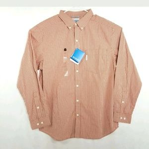 NWT Columbia Casual Button Down Shirt Size L